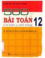 500 bài toán 12 cơ bản  mở rộng dương đức kim