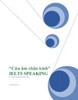 Cửu âm chân kinh cho IELTS SPEAKING