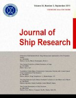 Journal of ship research, tập 55, số 03, 2011