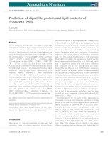 Aquaculture nutrition, tập 16, số 6, 2010