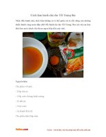 Cách làm bánh chả cho Tết Trung Thu
