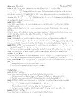 Tổng hợp bài tập hình học oxyz