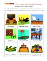 Flashcards for Kids: School