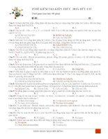 25 ĐỀ KIỂM TRA HOÁ HỮU CƠ 12 ÔN THI THPT QUỐC GIA