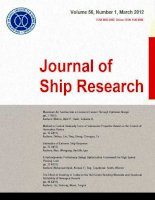 Journal of ship research, tập 56, số 03, 2012