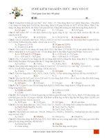 25 ĐỀ KIỂM TRA HOÁ VÔ CƠ ÔN THI THPT QUỐC GIA
