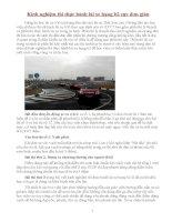 Kinh nghiệm thi thực hành lái xe ô tô hạng b2 cực đơn giản