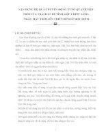 SKKN vận DỤNG hệ QUẢ CHUYỂN ĐỘNG XUNG QUANH mặt TRỜI của TRÁI đất để TÍNH góc CHIẾU SÁNG, NGÀY mặt TRỜI lên THIÊN ĐỈNH ở một điểm