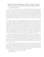 skkn một số KINH NGHIỆM đọc   HIỂU văn bản văn học TRUNG đại VIỆT NAM TRONG CHƯƠNG TRÌNH lớp 10