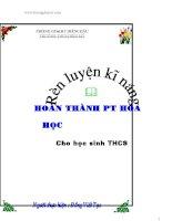 SKKN rèn luyện kĩ năng hoàn thành PTHH cho học sinh THCS