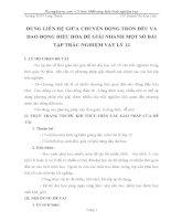 SKKN DÙNG LIÊN hệ GIỮA CHUYỂN ĐỘNG TRÒN đều và DAO ĐỘNG điều hòa để GIẢI NHANH một số bài tập TRẮC NGHIỆM vật lý 12