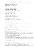 12 mục phân biệt các từ đồng nghĩa trong tiếng anh