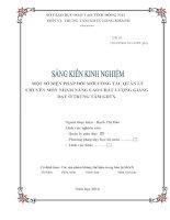 skkn một số BIỆN PHÁP đổi mới CÔNG tác QUẢN lý CHUYÊN môn NHẰM NÂNG CAO CHẤT LƯỢNG GIẢNG dạy ở TRUNG tâm GDTX