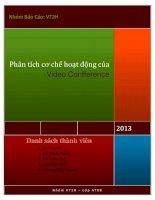 Bài thuyết trình phân tích cơ chế hoạt động của video confference
