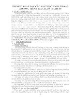 sáng kiến kinh nghiệm PHƯƠNG PHÁP dạy các bài THỰC HÀNH TRONG CHƯƠNG TRÌNH địa lí lớp 10 BAN cơ bản