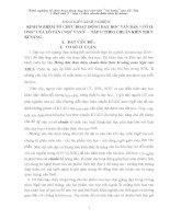 SKKN kinh nghiệm tổ chức hoạt động dạy học văn bản cố hương (ngữ văn 9 tập 1) theo chuẩn kiến thức kĩ năng