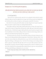 SKKN đổi mới PHƯƠNG PHÁP KIỂM TRA ĐÁNH GIÁ QUA HÌNH THỨC xây DỰNG MA TRẬN đề để NÂNG CAO CHẤT LƯỢNG dạy và học LỊCH sử