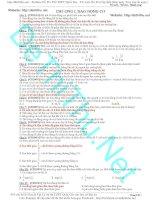 Đề Thi Thử 435 câu hỏi lý thuyết vật lý ôn thi có đáp án