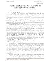 skkn dạy học TRÍCH ĐOẠNUY LIT xơ TRỞ về THEO đặc TRƯNG THỂ LOẠI