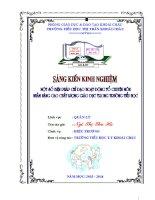 SKKN một số biện pháp chỉ đạo hoạt động tổ chuyên môn nhằm nâng cao chất lượng giáo dục trong nhà trường