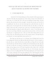 skkn NÂNG CAO VIỆC PHÁT HUY TÍNH dân CHỦ TRONG CÔNG tác QUẢN lý GIÁO dục tại TRƯỜNG THPT TRẤN BIÊN