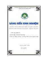 SKKN quản lý hoạt động dạy học của hiệu trưởng trường THCS huyện văn giang  tỉnh hưng yên