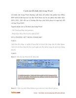 Cách sửa lỗi dính chữ trong Word
