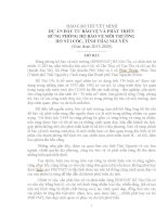 DỰ ÁN ĐẦU TƯ BẢO VỆ VÀ PHÁT TRIỂN  RỪNG PHÒNG HỘ BẢO VỆ MÔI TRƯỜNG  HỒ NÚI CỐC, TỈNH THÁI NGUYÊN