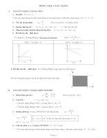 bài tập tự luận chương 1 động học chất điểm