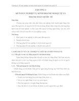 Kế toán nghiệp vụ kinh doanh nghoại tệ chương 6