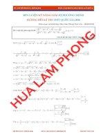 Hệ phương trình luyện thi THPT quốc gia ( Thầy Lâm Phong )