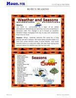 Vocabulary  seasons 1