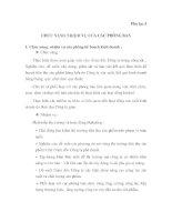 CHỨC NĂNG NHIỆM VỤ CỦA CÁC PHÒNG BAN