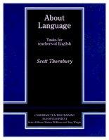 About language   tasks for teachers of english   thornbury scott