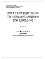 COLT teachers  guilde to teaching and testing language courses   levels 1 41