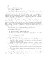 [Tiểu luận cao học môn Hệ thống tài khoản quốc gia] Bài tập giữa kỳ môn Hệ thống các tài khoản quốc gia SNA