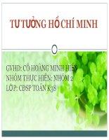 Bài thuyết trình Tư tưởng Hồ Chí Minh về đại đoàn kết dân tộc