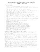 Đe cương ôn tập lịch sử 6 cuối học kì II