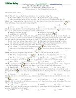 Ôn tập thi học kì môn vật lý lớp 10