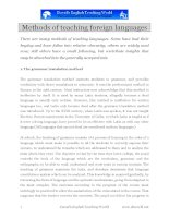 Methods of teaching foreign languages   article