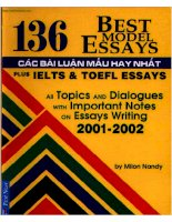 Ebook 136 bài luận mẫu hay nhất IELTS và TOEFL (bản đẹp HD)