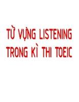 Từ vựng LISTENING trong kỳ thi toeic