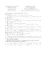 DE THI MON VAT LY 10 HKI NAM HOC 2015   2016 CHINH THUC