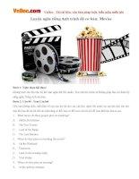 Luyện nghe tiếng Anh trình độ cơ bản: Movies
