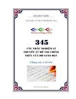 HAY 345 câu lý thuyết trong đề chính thức các năm môn vật lý có đáp án