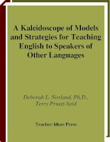 A kaleidoscope of models and strategies for teaching english to speekers of other languages by de