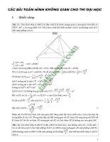 200 bài tập hình học không gian ôn thi THPTQG