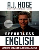 Effortless english learn to speak english like a native by AJ hoge (eng)