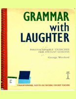 English grammar book   with laughter   exercises for instant lessons