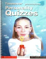 English teaching resources   timesaver   personality quizzes